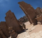 Tour 360° The Hadrien Gate and the Cardo Maximum in Petra